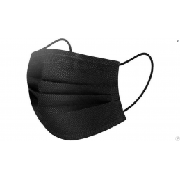 Mouth mask black per set of 3