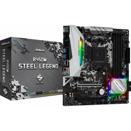 ASRock B450M Steel Legend...